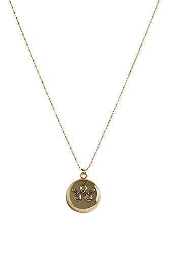 invisawear Smart Jewelry - Personal Safety Device - Gold Necklace