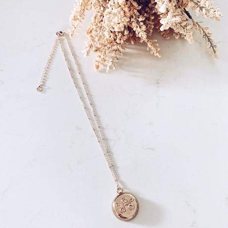invisawear Smart Jewelry - Personal Safety Device - Rose Gold Necklace with 32 inch chain