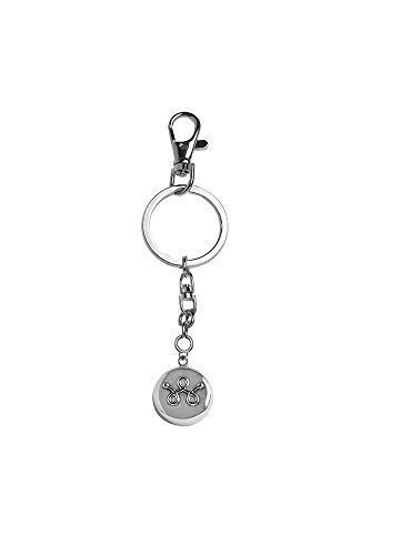 invisawear Smart Jewelry - Personal Safety Device - Silver Unisex Keychain