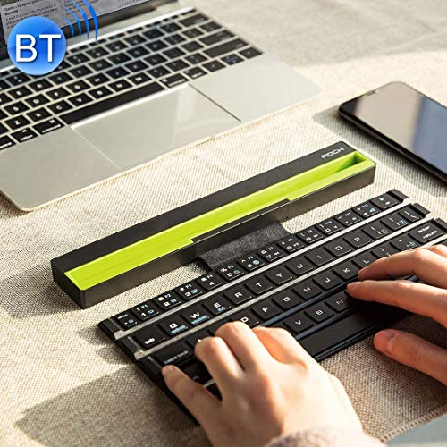 JJF-US Tablet and Smartphones (Black), Notebook, Multi-Function Rollable Radiocommunication Bluetooth Keyboard with Indicator for Laptop (Color : Black)