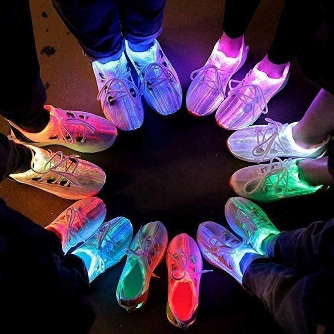 ️️Kids Luminous Fiber Optic Light Up Sneakers ️️ $34.95 ...