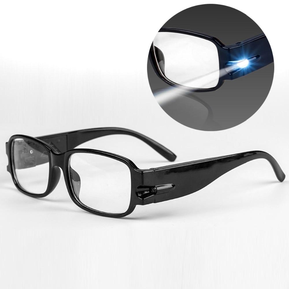 LED Lighting Reading Glasses Rimmed Eyewear Night Light ...
