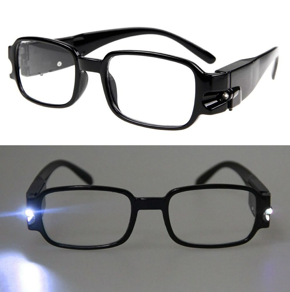 LED Reading Glasses Eyeglasses Spectacle Diopter Magnifier ...