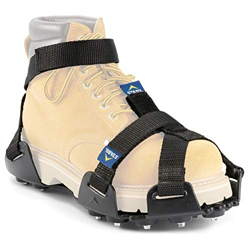 Like Vibram - STABILicers Maxx 2 Heavy-Duty Traction Cleats for Job Safety in Ice and Snow, Medium (1 Pair), Black, Medium (Shoe Size W 10-12/ M 8-10)