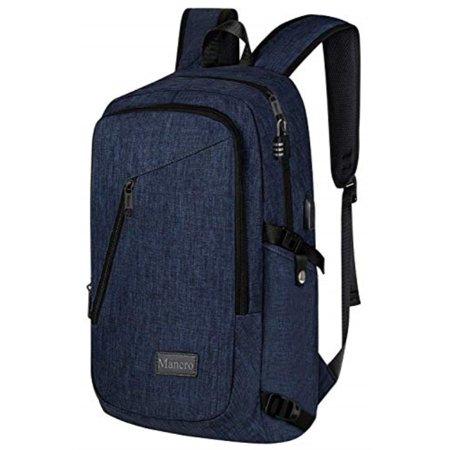 Mancro - College Backpack, Business Slim Laptop Backpack ...
