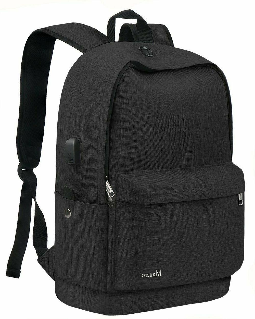 Mancro School Backpack, College Middle High Student Anti-Theft