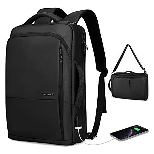 Markryden slim Laptop Backpack 3in1 backpack with USB Charging Port Water-Resistant School Travel Work Bag Fits 15.6 Inch Laptop
