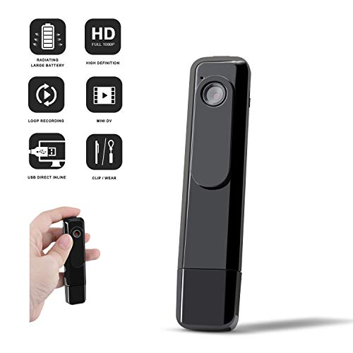 Mini Body Camera, DZFtech Body Spy Cam 1080P Spy Camera ...