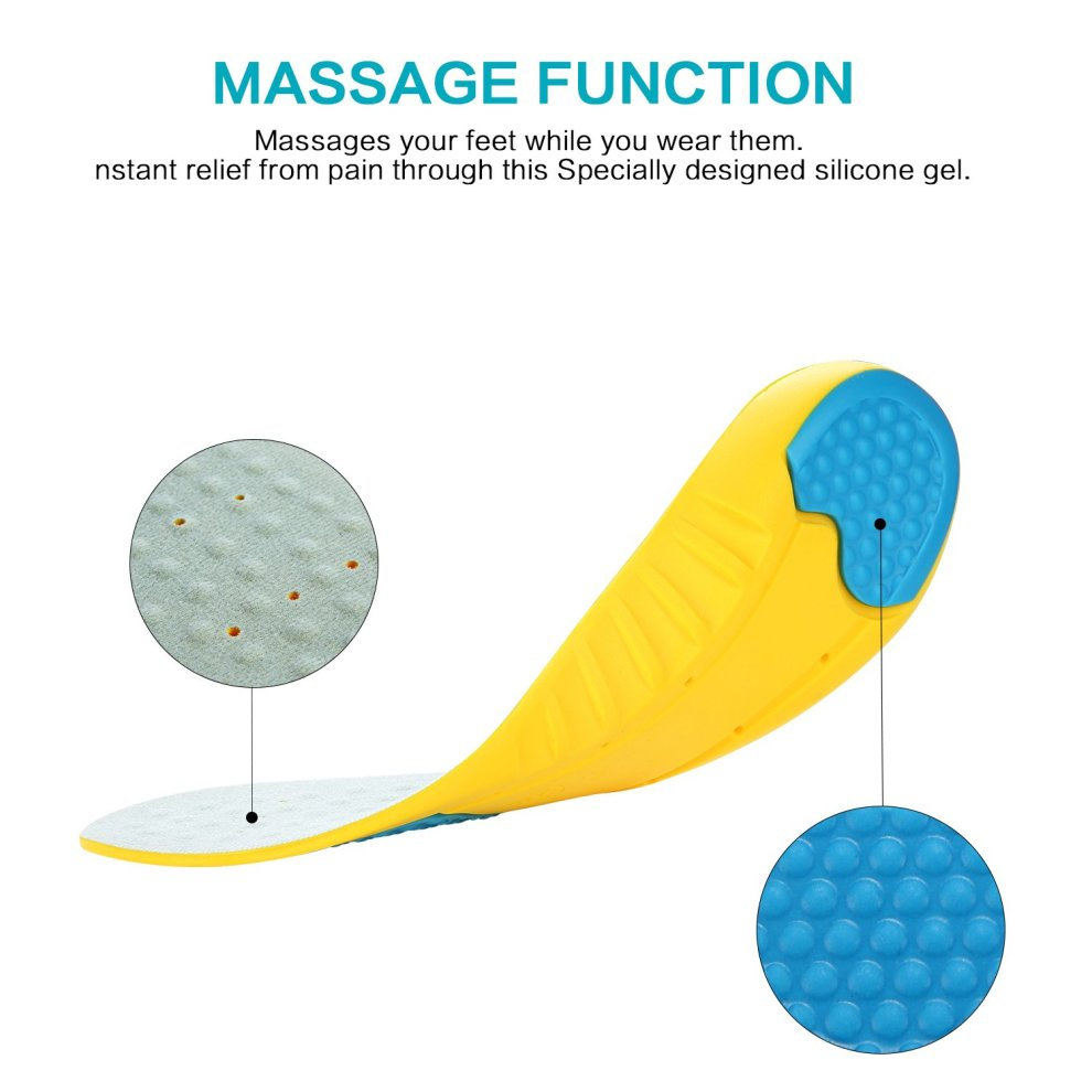 MOISO Memory Foam Orthotic Insoles for Plantar Fasciitis ...