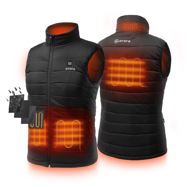 ORORO Men's Lightweight Heated Vest with Battery Pack