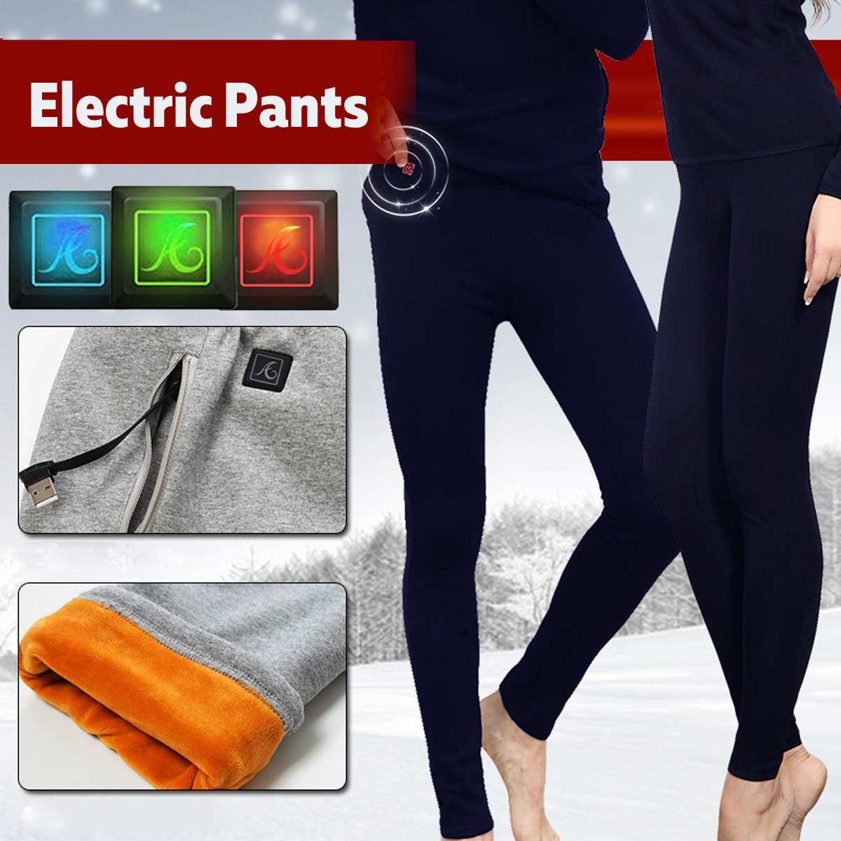 Outdoor Hiking Winter Sport Thermal Pants Electric Heated ...