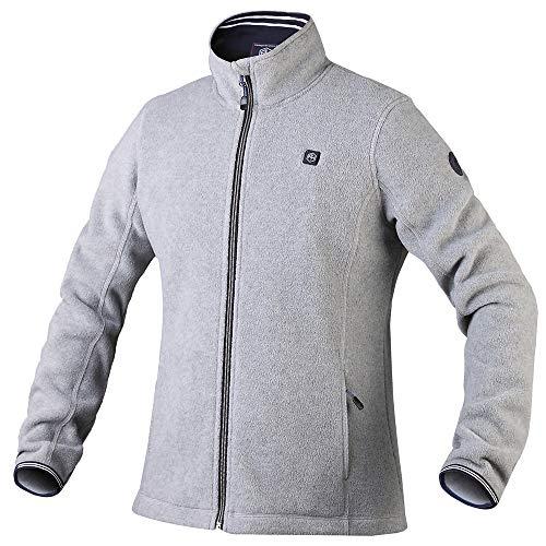 Pau1Hami1ton Women's Sherpa Fuzzy Fleece Heated Jacket Full-Zip (Power Bank not Included) PJ-06 (XL,Grey)