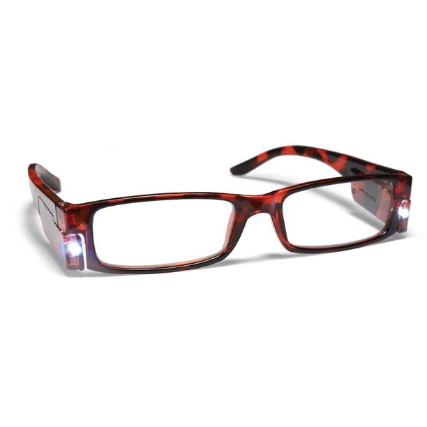 PS Designs 01444 - Tortoise Shell - 2.50 Bright Eye Readers (PRG5-2.50) 2.5 Magnification LED Reading Glasses
