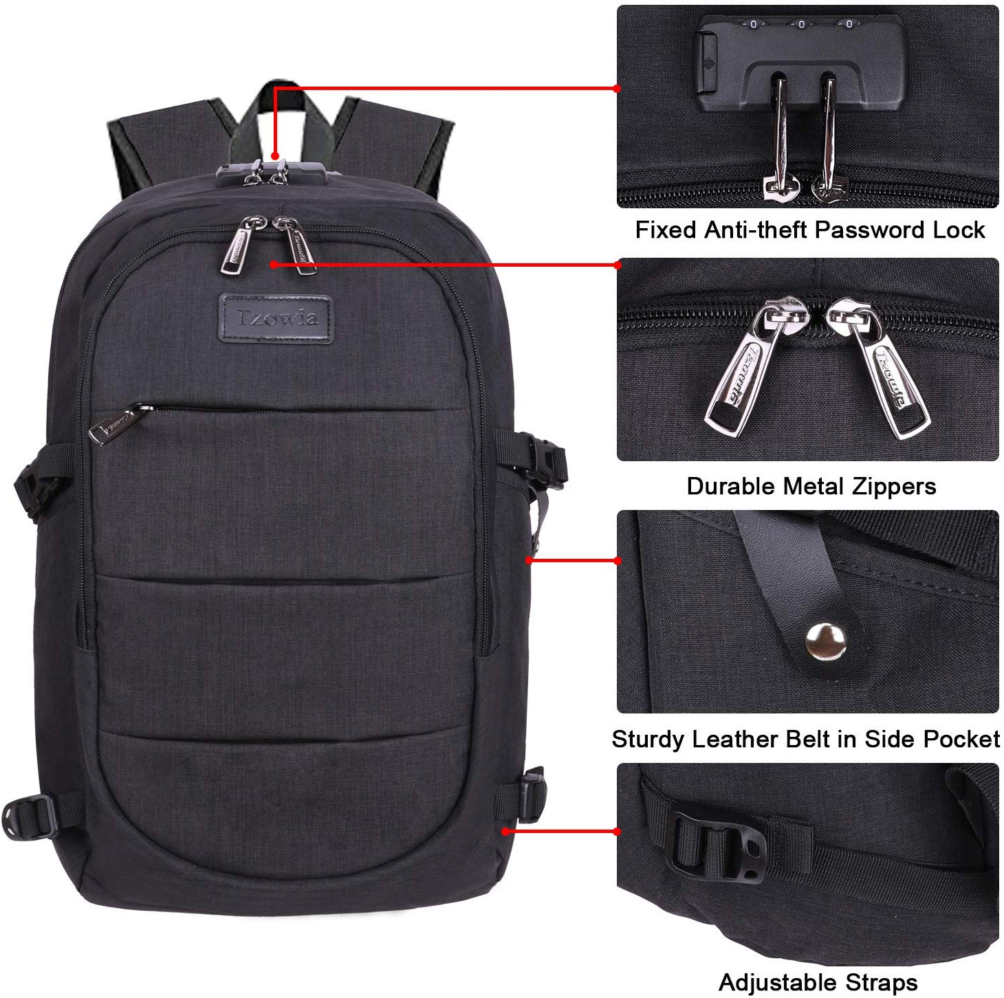Ranvoo Laptop Backpack, Business Anti Theft Waterproof ...