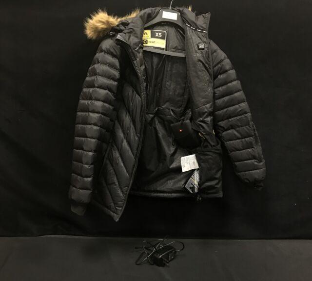 Ravean Women's Down Heated Jacket Size- XS | Black | eBay