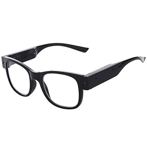 Reading Glasses Lighted Eyewear Clear Vision Unisex (Black, 1.0X)