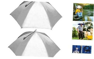 """RedSwing 25''/37"""" Diameter Umbrella Hat for Adults and Kids, Hands Free UV Prote"""