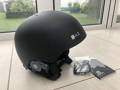 Salomon Brigade+ Audio Helmet All Black Size Small