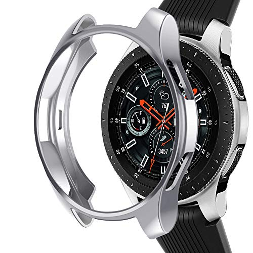 Samsung Galaxy Watch NaHai TPU Slim Plated Case - Silver