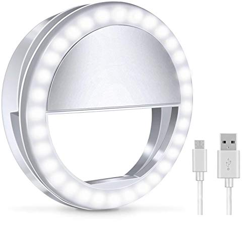 Selfie Light LED for Cell Phone Samsung Galaxy Sony and Other Smart Phones,Selfie Clip Light Rechargeable Dimmable Clip Ring Lights Fill-in Lighting Portable for Laptop, Camera