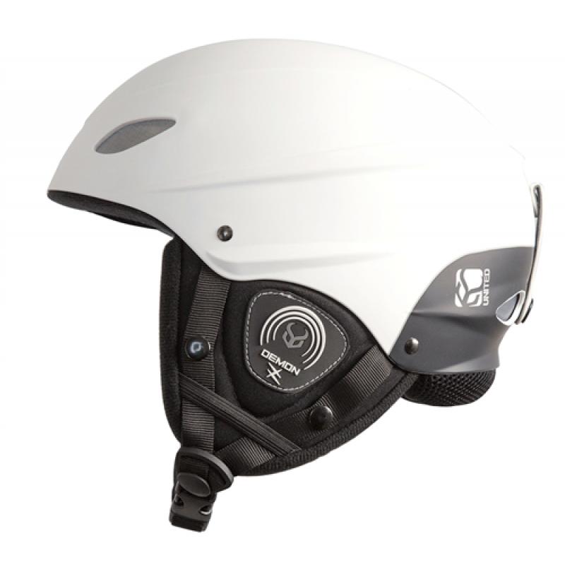 Шлем DEMON TEAM PHANTOM HELMET WITH AUDIO WHITE