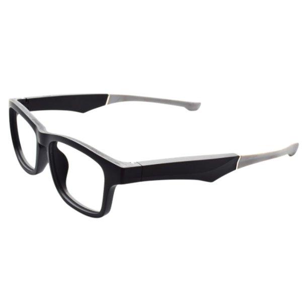 Smart Glasses Wireless Bluetooth Hands-Free Calling Music Audio Open Ear Sunglasses Black