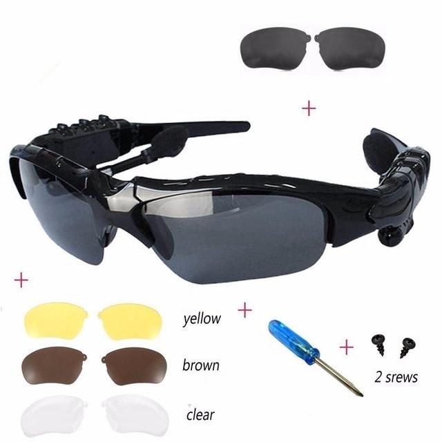 Sports Stereo Wireless Bluetooth 4.0 Smart Glasses Headset ...