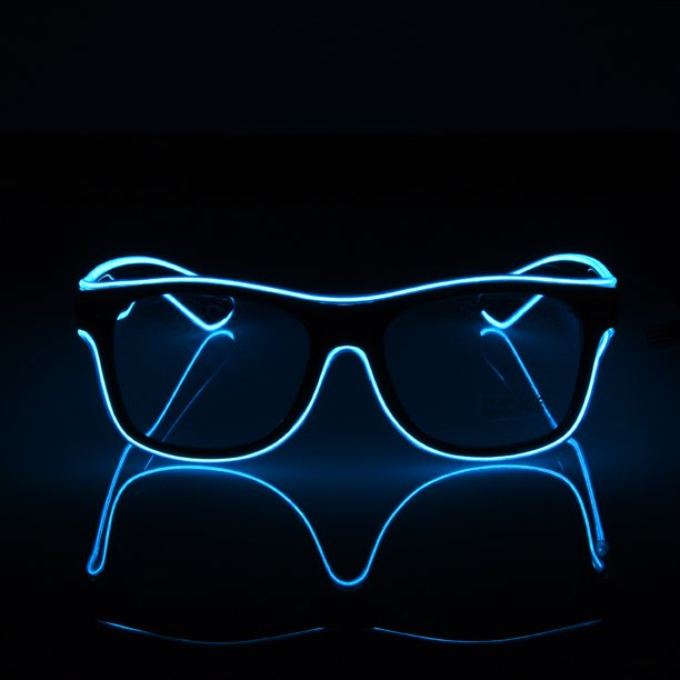 Standard Luminous Led Glasses El Wire Fashion Neon Led Cold Light Glasses For Dancing Party Bar Meeting Glow Rave Costume Party Atmosphere Activing Dj Bright Glasses Props