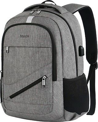Travel Laptop Backpack, Mancro Anti Theft Durable College School Bag with USB C