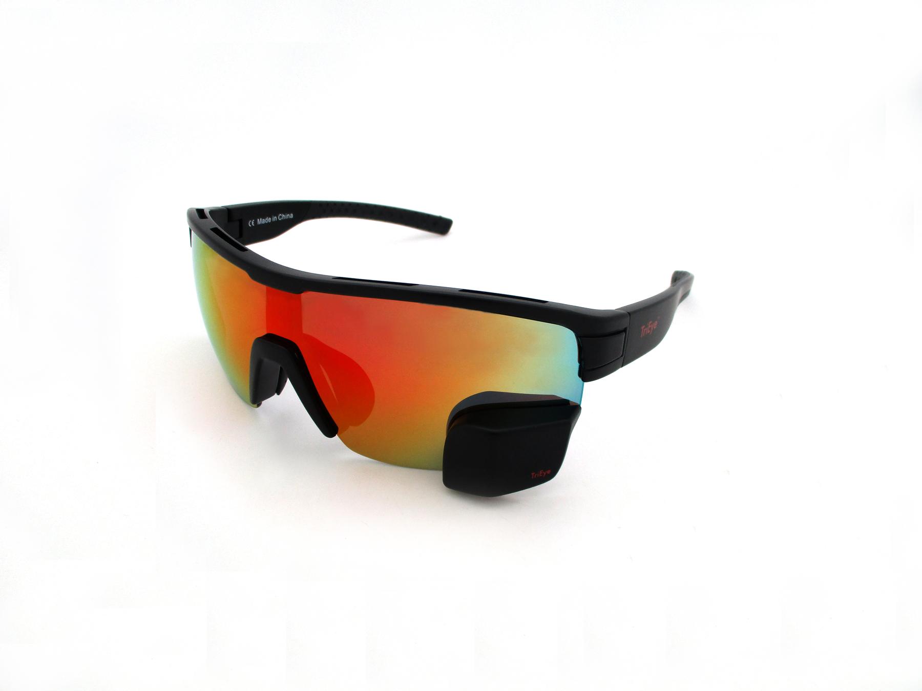TriEye Eyewear With Integrated Rearview Mirror