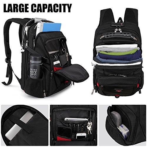 Tzowla Travel Laptop Backpack Anti-Theft Water Resistant ...