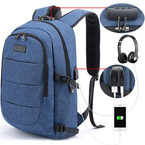 Tzowla Travel Laptop Backpack - BLUE