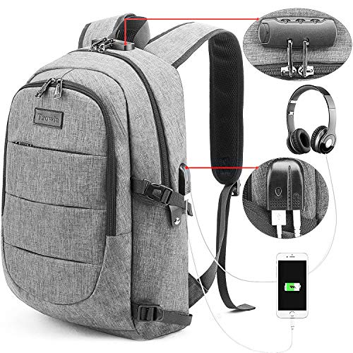 Tzowla Travel Laptop Backpack - GREY