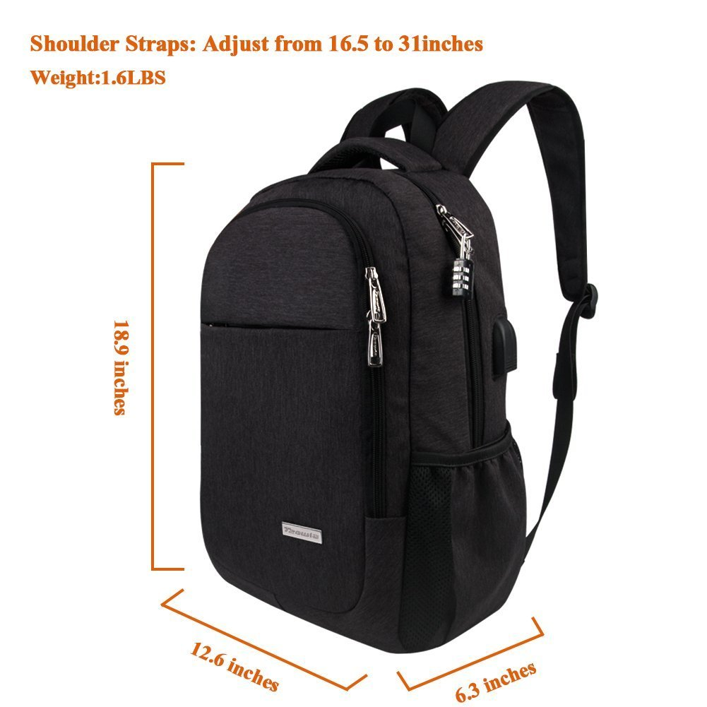 Tzowla Travel Laptop Backpack,Business Anti-Theft Water ...