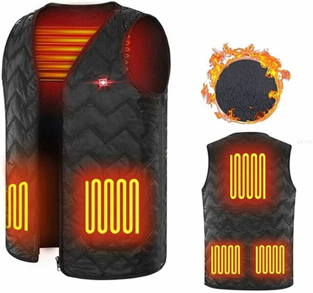 Unilove Heated Vest, Washable Size Adjustable USB Charging ...