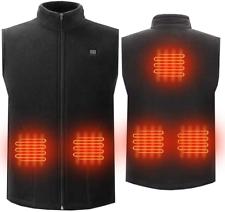 Unilove Soft Fleece Heated Jacket Vest Men's Full-Zip ...