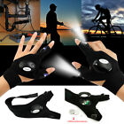 US Outdoor Cycling Magic Strap Rescue Sporting Gloves 2 LED Flashlight Torch