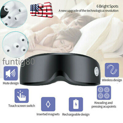 USB Electric Vibration Eye Care Massager Magnet Therapy Fatigue Relieve Glasses