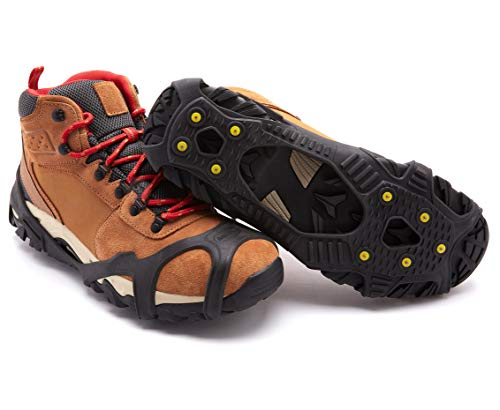 Vibram Ice Sole Alt - ICETRAX V3 Tungsten Winter Ice Grips for Shoes and Boots - Ice Cleats for Snow and Ice, StayON Toe, Reflective Heel