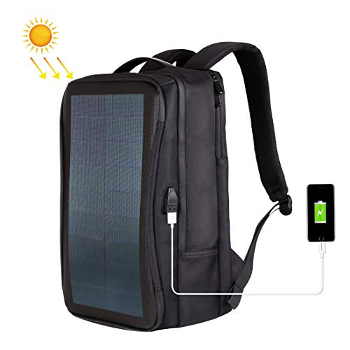 Voltaic Systems OffGrid Alt - Solar Panel 12W Power Backpack Laptop Bag with Handle and USB Charging Port(Black)