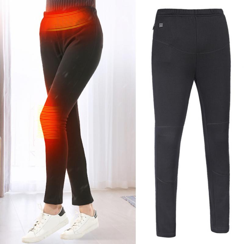 Warm Unisex Windproof USB Electric Heated Pants Women Soft ...
