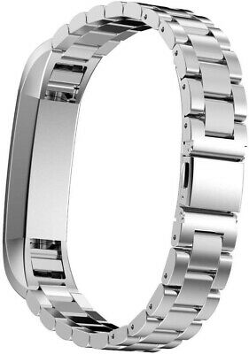 Wearlizer-Replacement Band for Fitbit Alta/Fitbit Alta HR, Silver metal/ New