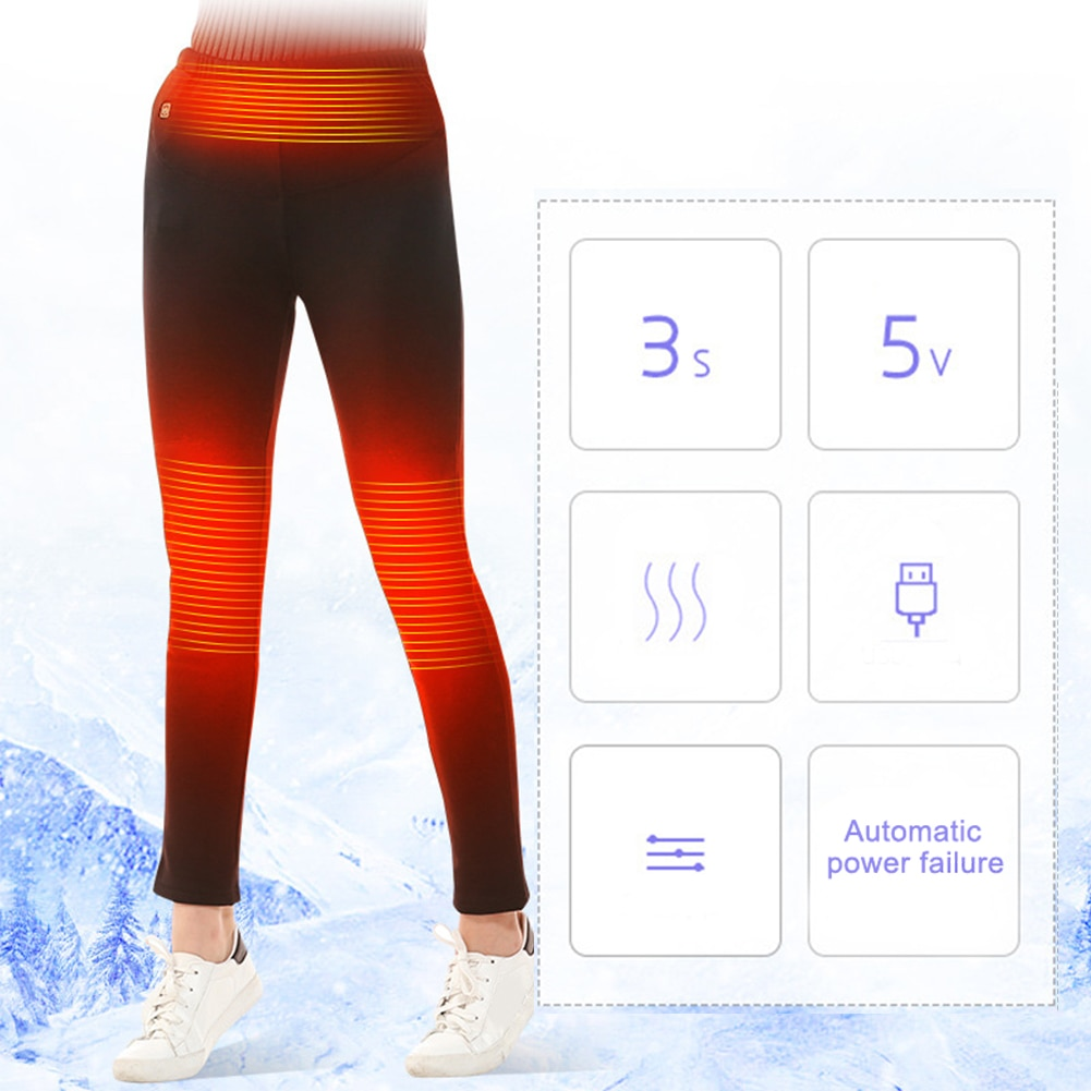 Windproof USB Electric Heated Pants Women Men Thermal ...