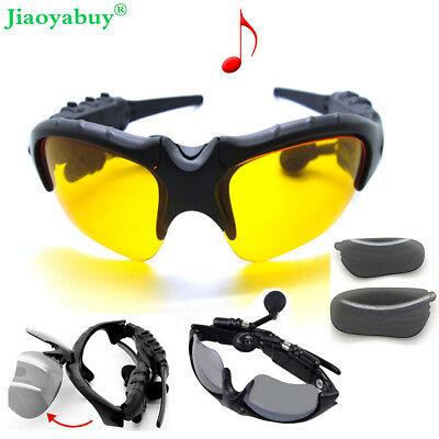 Wireless Sport Stereo Bluetooth Sunglasses Headset ...