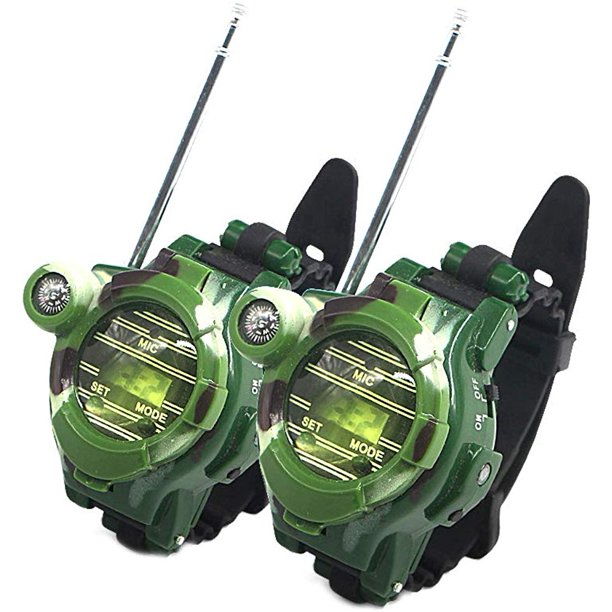 Peroptimist 2 PCS Watch Walkie Talkies for Kids Long Range Two-Way Radio Camo Outdoor Army Toys