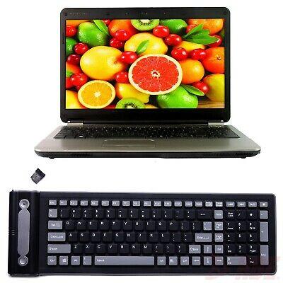 Wireless Waterproof Flexible Rollup Portable Folding Typing Silicone Keyboard PC