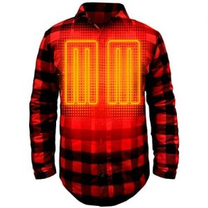 Battery Heated Flannel Shirt 6
