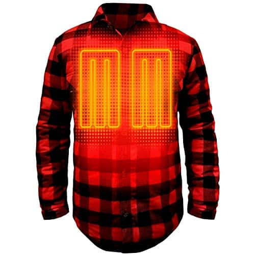 Battery Heated Flannel Shirt 8
