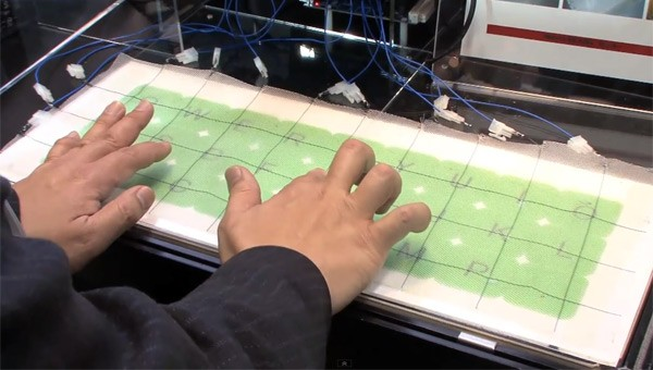 Japanese researchers at AIST weave capacitive touch into large-area textiles 8