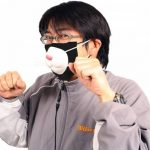 Thanko USB kitty mask will circulate the air in front of you 4